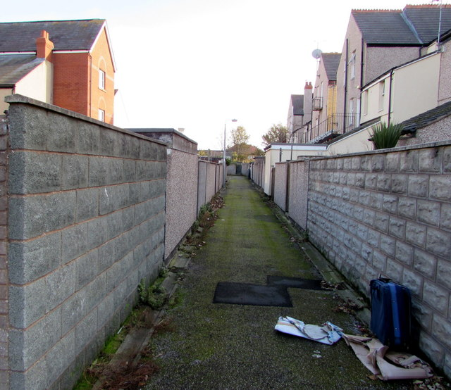 Back lane from Seabank Road, Rhyl
