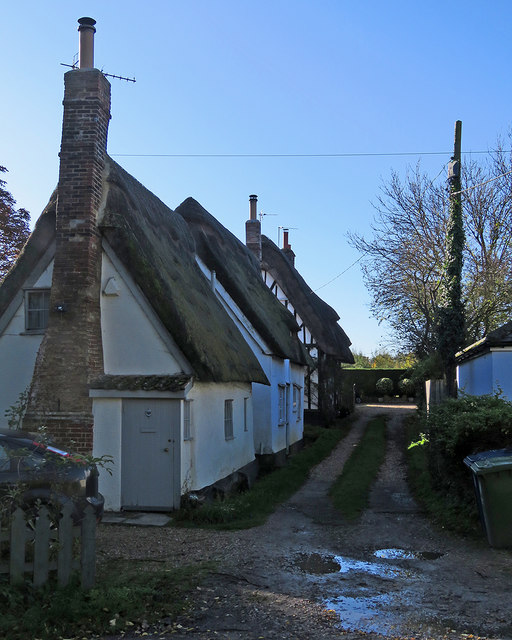 Whittlesford: plaster and thatch