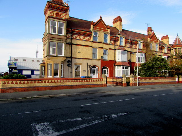 Three-storey houses, Seabank Road, Rhyl