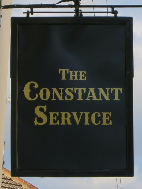 The Constant Service sign