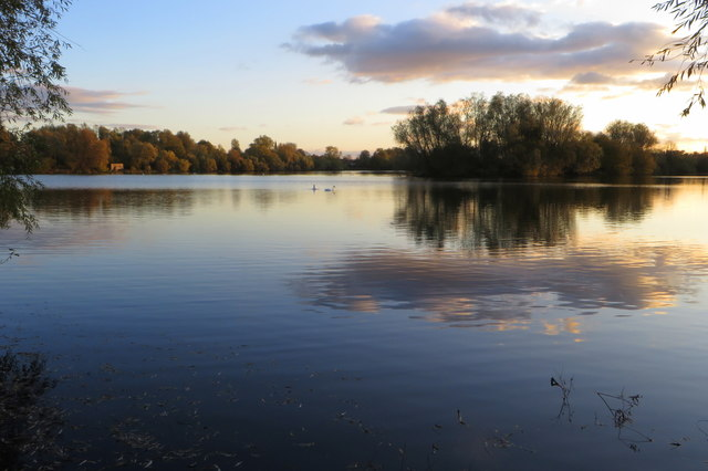 Grebe Lake and its island
