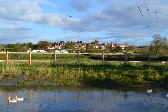Houses at Bibstone seen across the pond at Townwell