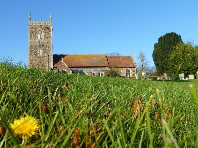 In the graveyard of West Newton church in Norfolk