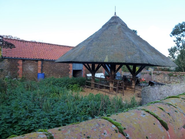 Thatched farm building in West Newton, Norfolk