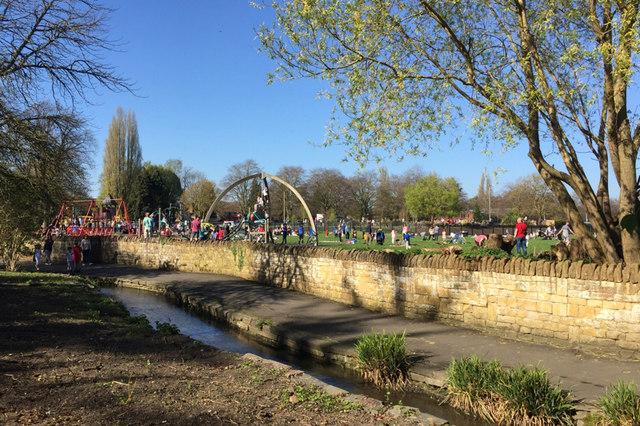 Play area, St Nicholas Park, Warwick