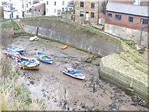 NZ7818 : Boats in Staithes Beck by Oliver Dixon