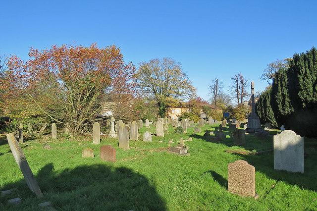 In Chesterton churchyard in November
