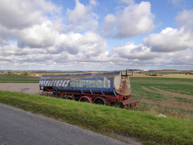 Road tanker put to agricultural use