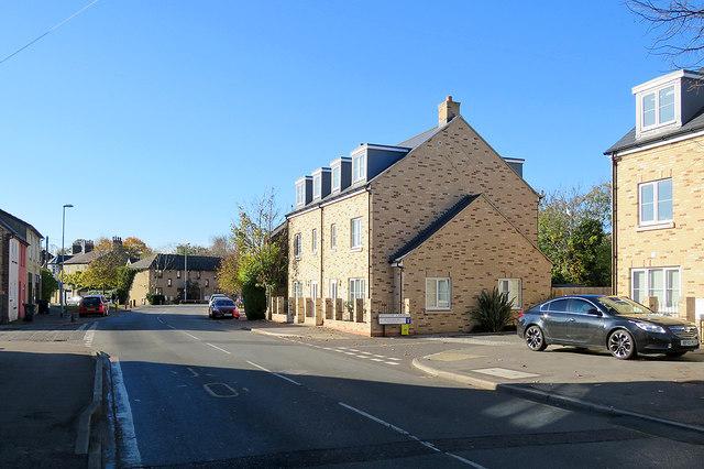 Chesterton High Street: new houses