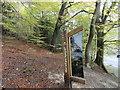 NZ1456 : Woodland Trust sign by Robert Graham