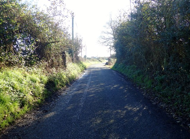 View South along Templetown Road