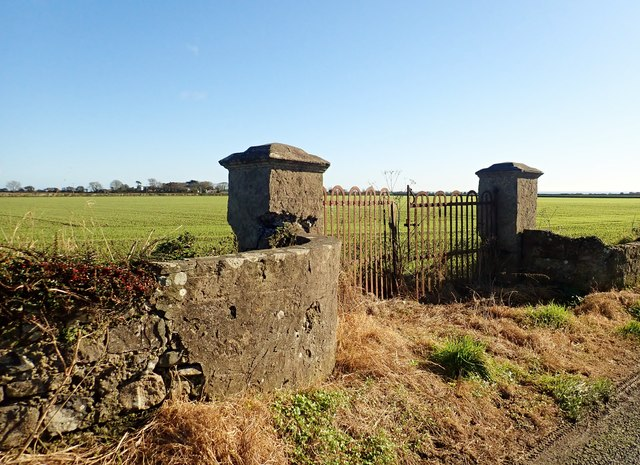 Pillared gate posts on the Templetown Road