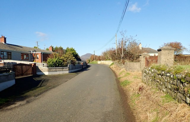 Houses on Templetown Road at Ballynamony