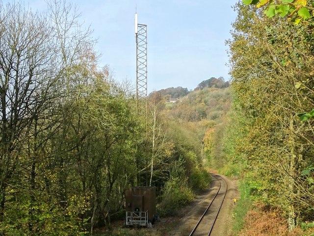 Phone mast by the railway