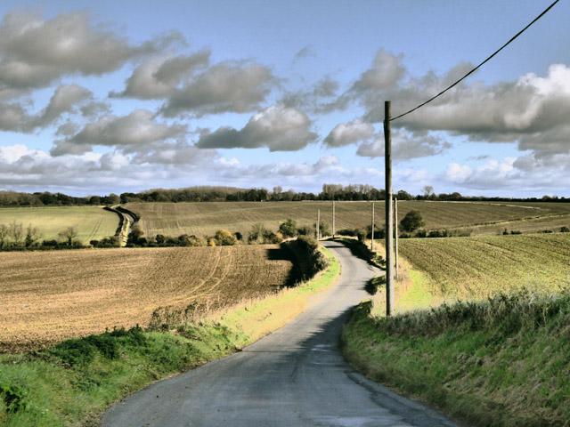 Lane east from Wallington