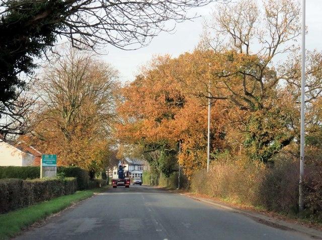 Woodplumpton Road heading to Moor Side