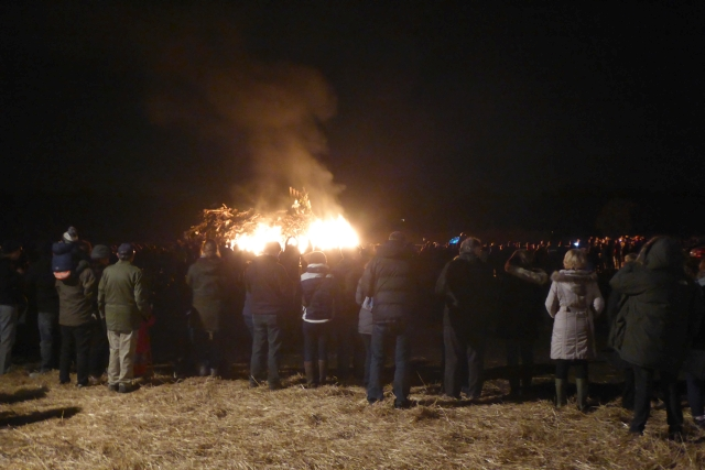 Crowds at Stillington Bonfire
