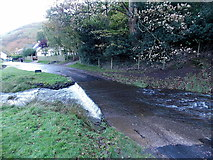SO4494 : White water at the edge of a ford, Carding Mill Valley, Church Stretton by Jaggery