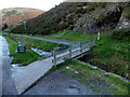 SO4494 : Wooden footbridge to a path avoiding a ford, Carding Mill Valley, Church Stretton by Jaggery