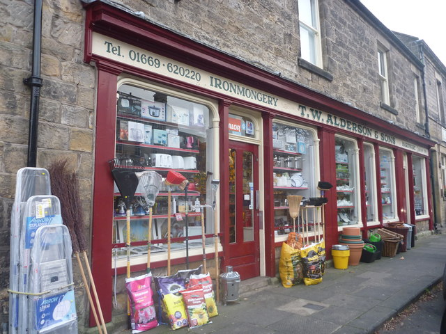 Northumberland Townscape : T W Alderson & Sons, Rothbury