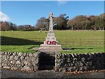 NX9257 : War Memorial Caulkerbush by Steve Houldsworth