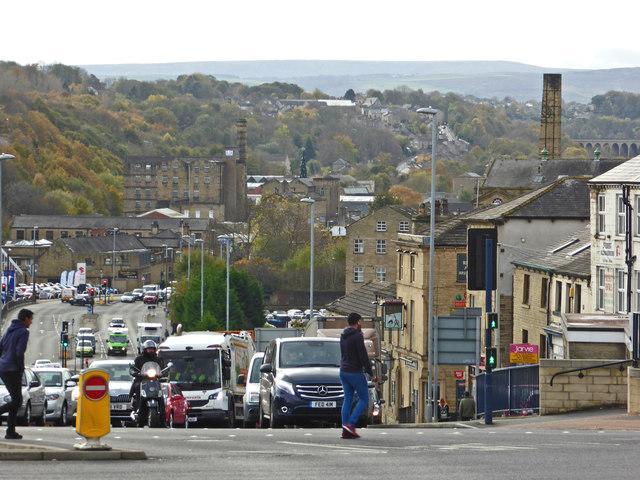 View down Chapel Hill, Huddersfield