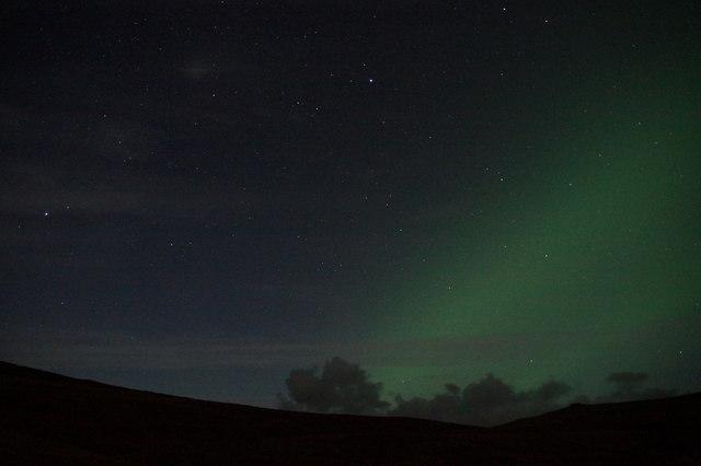 Aurora over Woodwick from Baliasta