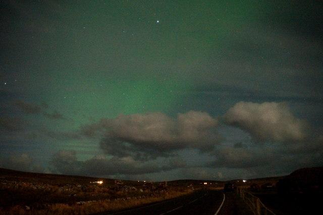 Aurora over Haroldswick
