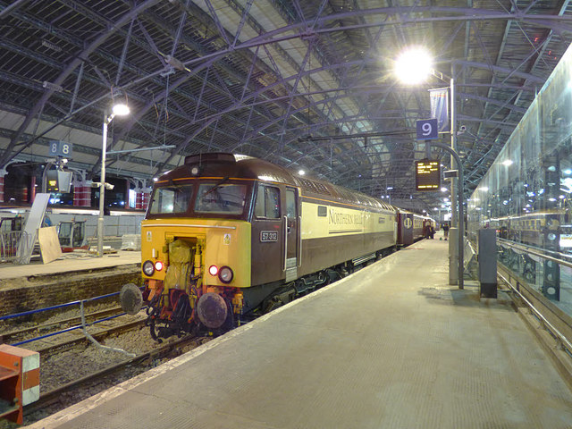 Charter train in platform 9 at Lime Street