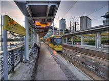 SJ8097 : MediaCityUK Metrolink Stop by David Dixon