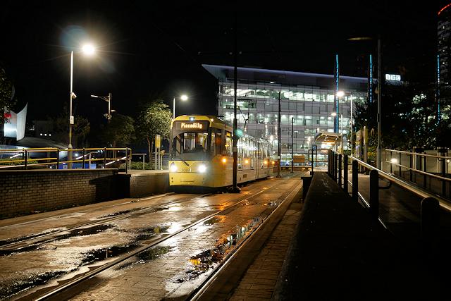 Night Tram at MediaCityUK