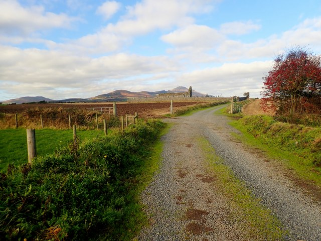 The road to the ruins of Kilwirra Church, Templetown