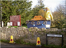 ST5464 : Lifeboat at the church by Neil Owen