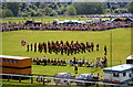 SJ4065 : Marching Band on the Roodee, Chester by Jeff Buck