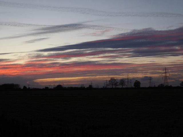 Sunset over Kellingley Colliery