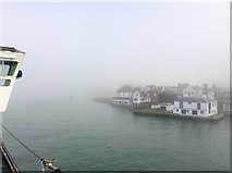 SZ6299 : Entering Portsmouth Harbour in fog by Paul Coueslant