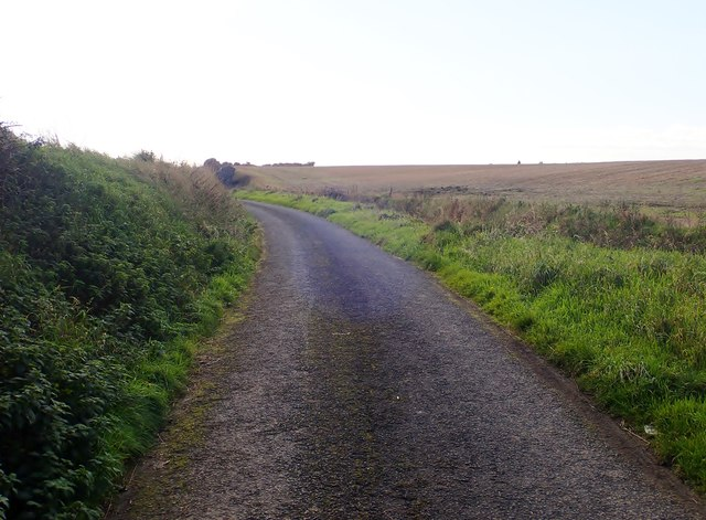 View south along the Shelling Hill Road