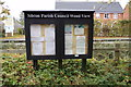 TM3669 : Sibton Village Notice Board on Wood View by Adrian Cable