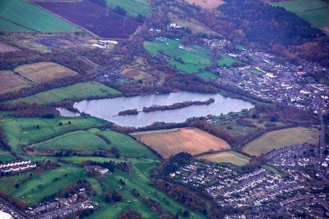 Town Loch, Dunfermline, from the air