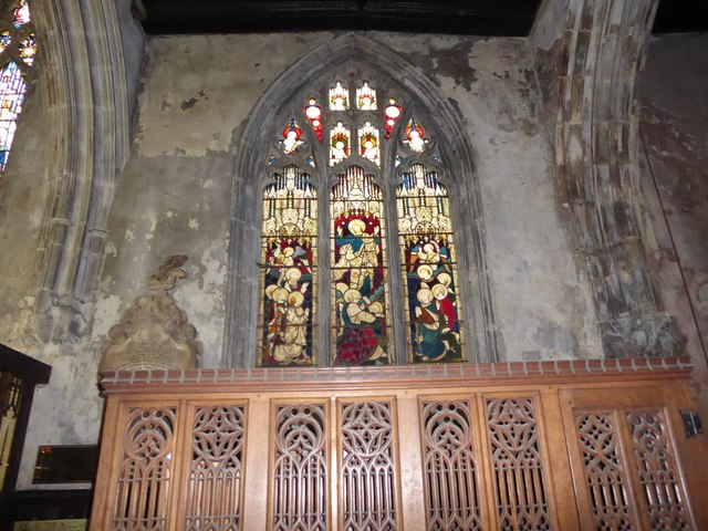St Mary, Lowgate: stained glass window (e)