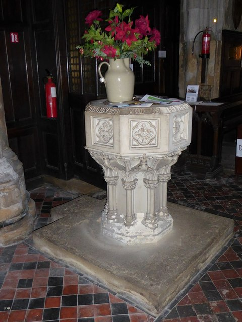 St Mary Lowgate: font