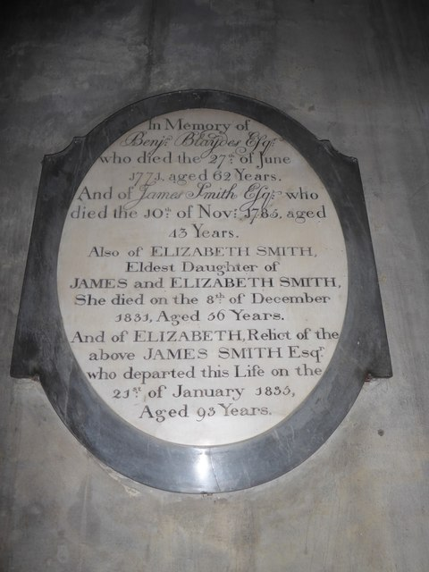 St Mary Lowgate: memorial (a)