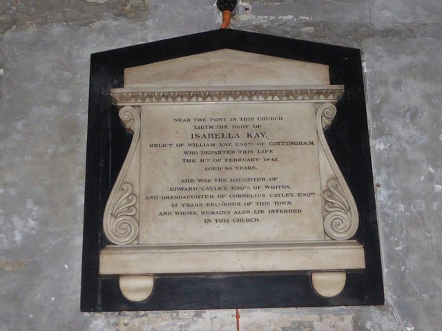 St Mary Lowgate: memorial (e)
