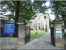 SD8122 : Entrance to Longholme Methodist Church, Rawtenstall by David Hillas