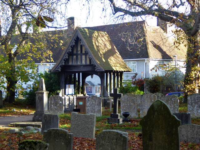 Lych gate, Essendon churchyard