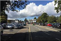 SP2871 : Car parks behind Abbey End, Kenilworth by Robin Stott