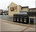 ST1586 : Recycling bins, Station Terrace, Caerphilly by Jaggery
