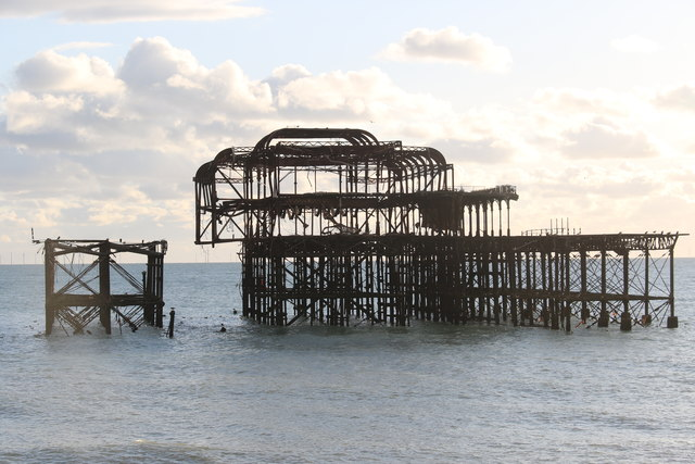 Disused West Pier, Brighton,  East Sussex