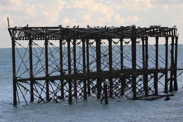 Disused West Pier, Brighton,  East Sussex