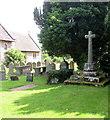 SO4510 : Grade II listed churchyard cross, Dingestow by Jaggery